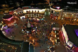 Vista dall'alto del mercatino di Prater