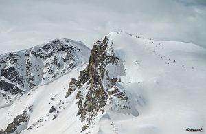 Pellando vicino al comprensorio del Bernina